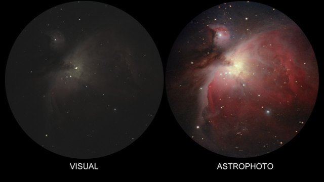 What you see through a Telescope - M42